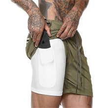 Men's 2 in 1 Workout Running Shorts