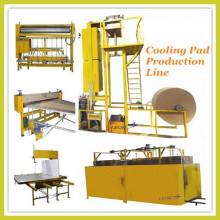 Evaporative cooling pad production line