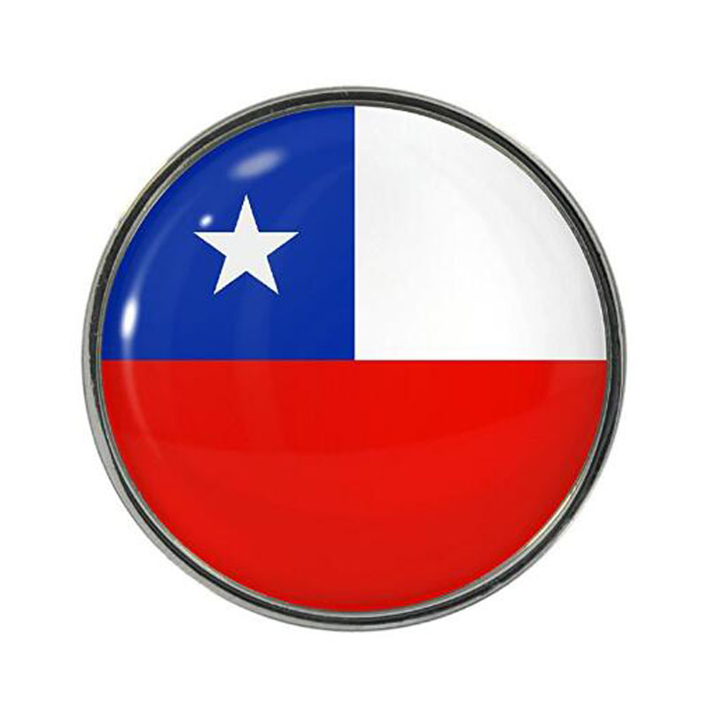 Chile Flag Design Pin Badges