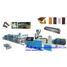 Línea de producción de tableros de CE/SGS/ISO9001 del PVC WPC puerta
