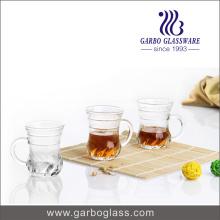 Tasses de verre à 5 po de petit thé avec poignée (GB090105LX)