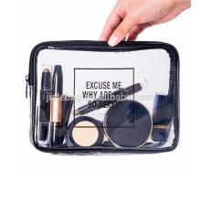 Мода дешевые Eco-содружественные выдвиженческие ТПУ водонепроницаемый косметический мешок макияж мешок прозрачный