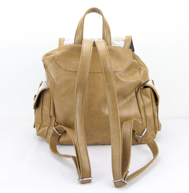 Leather Lace School Backpack