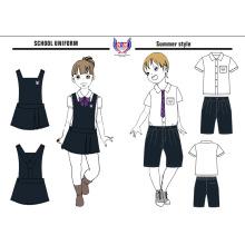 2016 OEM venda quente Custom crianças escola vestido