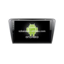 Android 4.4 Miroir-lien Glonass / GPS 1080P dual core voiture dvd pour Skoda Octavia A7 avec GPS / Bluetooth / TV / 3G