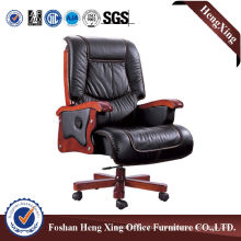 Wooden High Back Leather Executive Boss Office Chair (HX-CR041)