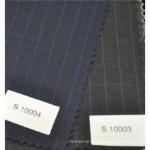 70 wool 30 polyester blend functional stripe 100% machine washable wool fabrics for coat pant men suit