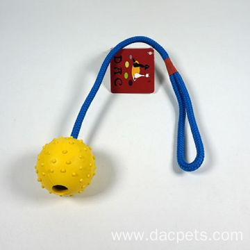 Cotton Rope Dog Toys with TPR Ball