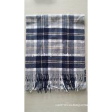 Cashmere & Wool Blended plaid bufanda