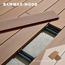 for Outdoor Swimming Pool Anti-Cracking Anti-Slip Waterproof Exterior WPC Capped Solid Coextrusion Wood Floor Deck Board Panel