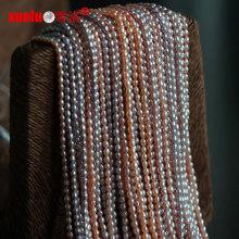 2.5-3mm Kleine Micro Rice Natürliche Süßwasser Perle Perlen Stränge (E180064)