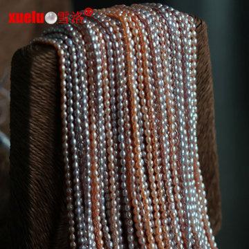 2.5-3mm Малый Micro риса природных пресноводных жемчужин бисер нитей (E180064)
