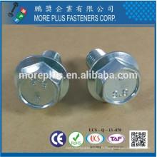 Fabriqué à Taïwan 8.8 Rondelle hexagonale Serrated Washer Full Thread Bolts