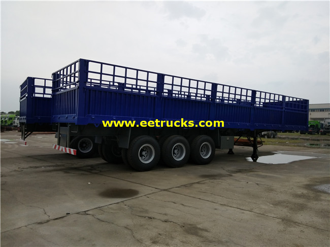 3 Axle Box Cargo Semi Trailers