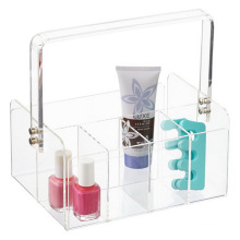 Home Decoration 5-Section Clear Tableware Bathroom Makeup Basket Storage Box Acrylic Tote