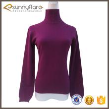 Fino suéter de cachemira 100% para el otoño