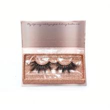 7D100 Hitomi custom lash box Private Label Real Mink Eyelashes paper eyelash packaging 3d real mink eyelash
