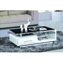 High Quality New Modern Wooden Glass Coffee Table
