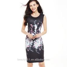 Contraste robe de femme d'affaires robe formelle de robes de bureau de dames pour la fête SD04