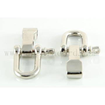 Fivela de metal em forma de D ajustável