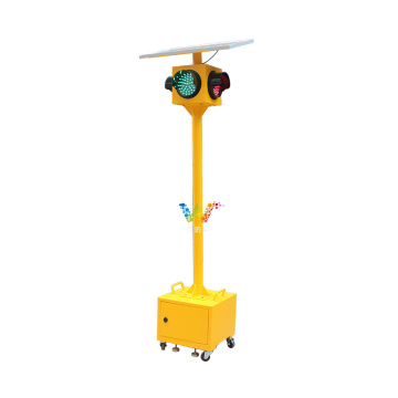 feu de circulation solaire portable temporaire 200 mm d'intersection