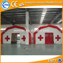 Tienda caliente de la venta con la parte inferior inflable, el camping inflable de la tienda médica del aire