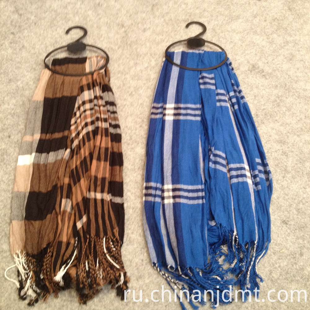 Checker Design Woven Scarves