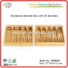 Montessori material Spindles, Box of 45