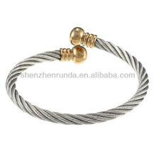 La Preciosa Stainless Steel Rope Design Open Cuff Bracelet veneers
