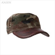 chapeau de chapeau militaire plat camouflage blanc bord plat personnalisé