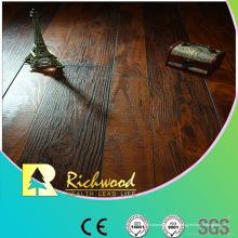 Plancher de stratifié à rainure en V de cerise écorché par main de 12.3mm AC4