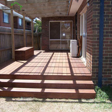 Coffee distressed crack-resistant merbau hardwood garden decking