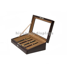 Advertising Wooden Stationery Store Custom Pen Display Case, Wooden 12 Fountain Pen Display Box