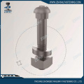 Button head oval neck rail bolt with nut&washer