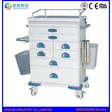 ISO/CE Quality Hospital Furniture Emergency Treatment ABS Cart Trolley