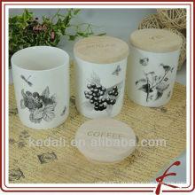 Китай Завод Оптовая Керамические Фарфор канистру Candy крем хранения Jar