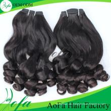 Volles unteres Fummi-indisches menschliches Webart-Haar für Jungfrau-Curly
