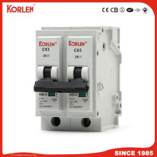 10ka Plug-in Mini Circuit Breaker 1P, 2P, 3P, 4P 6A-63A MCB