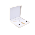 White Leather Box Jewelry Gift Boxes