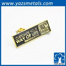 diseño vendedor caliente del oro de la divisa del botón del metal