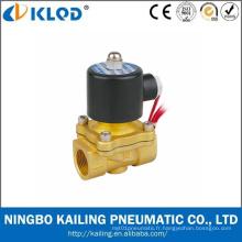 Vanne électromagnétique 220V AC en laiton d'huile d'eau de gaz à air bas prix