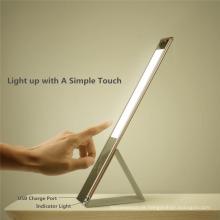 2017 promoção de negócios couro-como candeeiro de mesa LED com 3 níveis de brilho