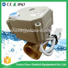 2 vías 1 pulgada de latón DC12 / 24V eléctrica motorizada válvula de bola motorizada