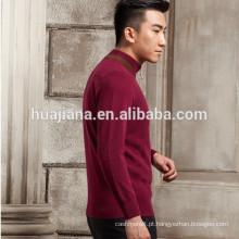 Camisola masculina de 100% cashmere tricô