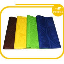 2016 Dubaï Kaftan Robe Tissus Pas Cher Damas Shadda Bazin Riche Guinée Brocade Coton Africain Jacquard Nigerian Textiles FEITEX