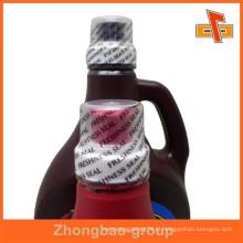 PVC termoretráctil garrafa de água selo etiqueta de vedação, embalagens personalizadas garrafa pacote de selo pacote