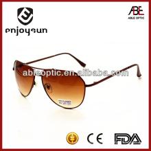 Мода и популярные коричневые цветные металлические солнцезащитные очки