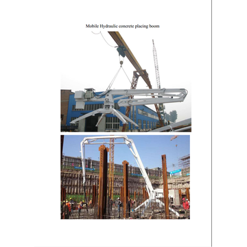 concrete pump hydraulic concrete placing boom