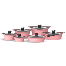fashion design non-stick induction fry pan with ceramic coating