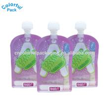 O costume laminado levanta-se o saco reusável do bico da bebida do ziplock do saco do comida para bebé com baixo preço